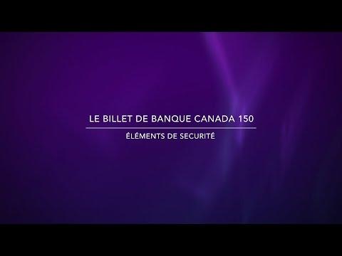 Billet de banque Canada 150 – éléments de sécurité