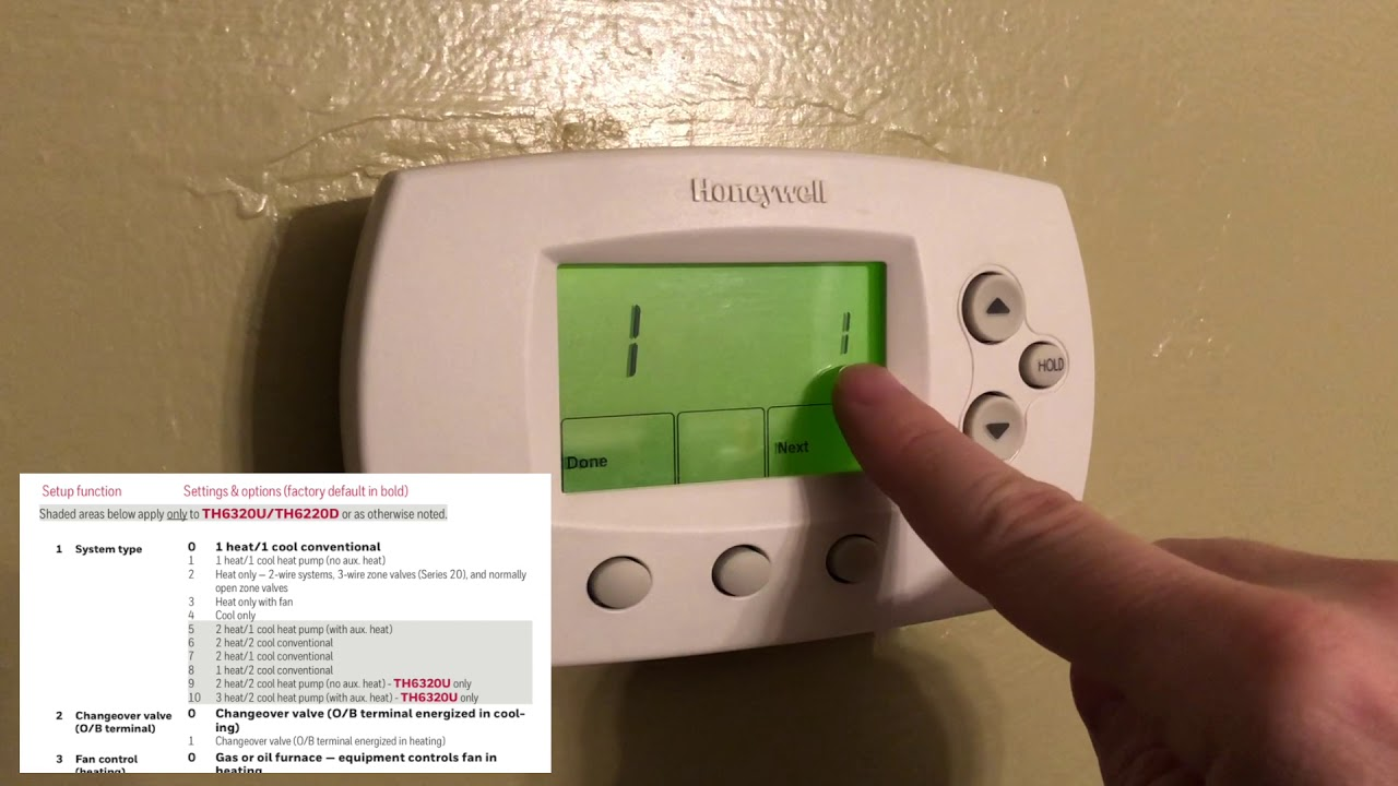how to program a honeywell focuspro th6000 series thermostat youtube rh youtube com honeywell focuspro wifi th6000 user guide honeywell focuspro th6000 user guide