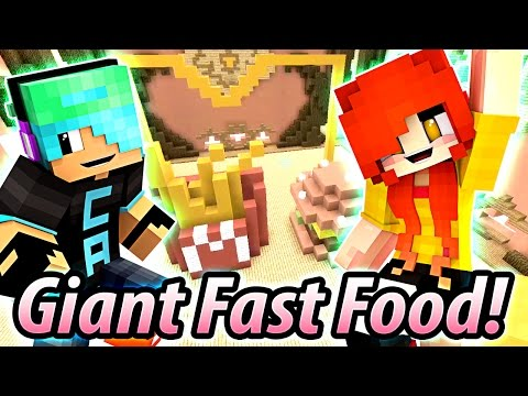 Team Build Battle GIANT FAST FOOD - DOLLASTIC PLAYS with Gamer Chad - Minecraft Hypixel Mini Game