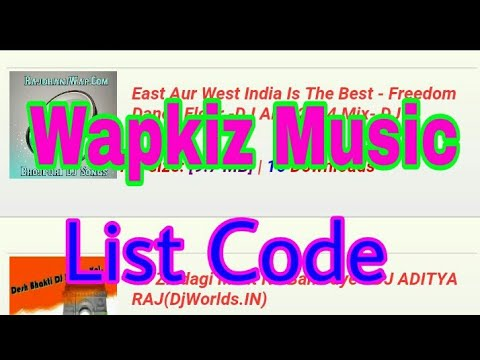 How to creat a Latest update Code,Folder, upload Song wapkiz