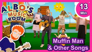 Muffin Man and Other Songs| Sing and Dance! | Albo's Music Room Songs for Kids