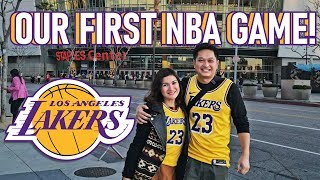 Watching a Lakers Game Live for the First Time! | Camille Prats