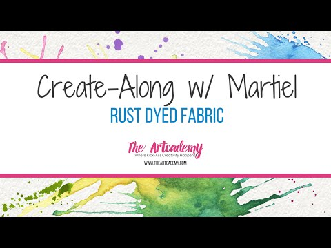 How to Make Rust Dyed Fabric