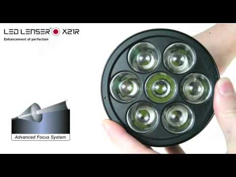 Lampe torche ultra puissante x21r led lenser france for Lampe de chevet rechargeable
