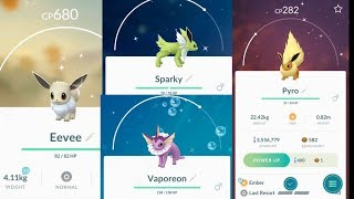 How to get Shiny Flareon, Vaporeon and Jolteon from Shiny Eevee Evolution?