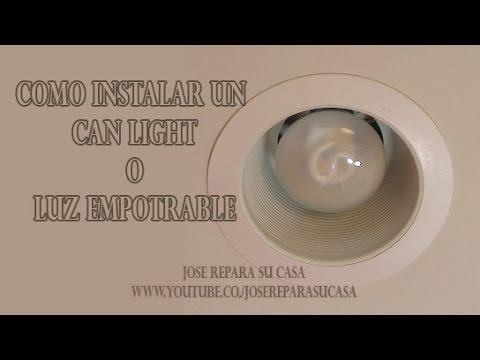 Como instalar un can light o luz empotrable youtube for Como poner un vivero