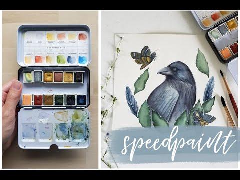Raven Painting | Prima Watercolor Decadent Pies
