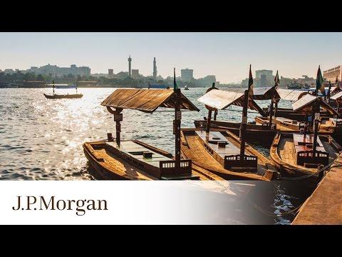 360-Degree View of Dubai Waterfront | Dubai Duty Free Tennis Championships | J.P. Morgan