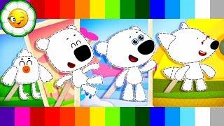 - Ми ми мишки Мультизнайка 1 Мини игра нарисуй Кешу, Тучку, Лисичку и Цыпу Мультик игра для детей