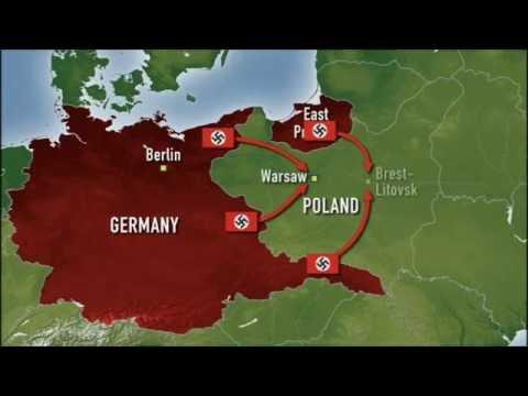 Ww2 Poland Map.Wwii In Colour Invasion Of Poland Youtube