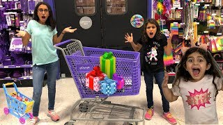 Kids Pretend play Shopping for Birthday Surprise Toys!! funny video