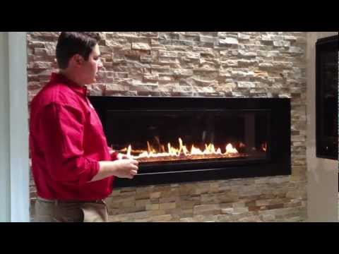 Napoleon Linear Gas Fireplace LV50 Propane Natural Gas Product Review LV502