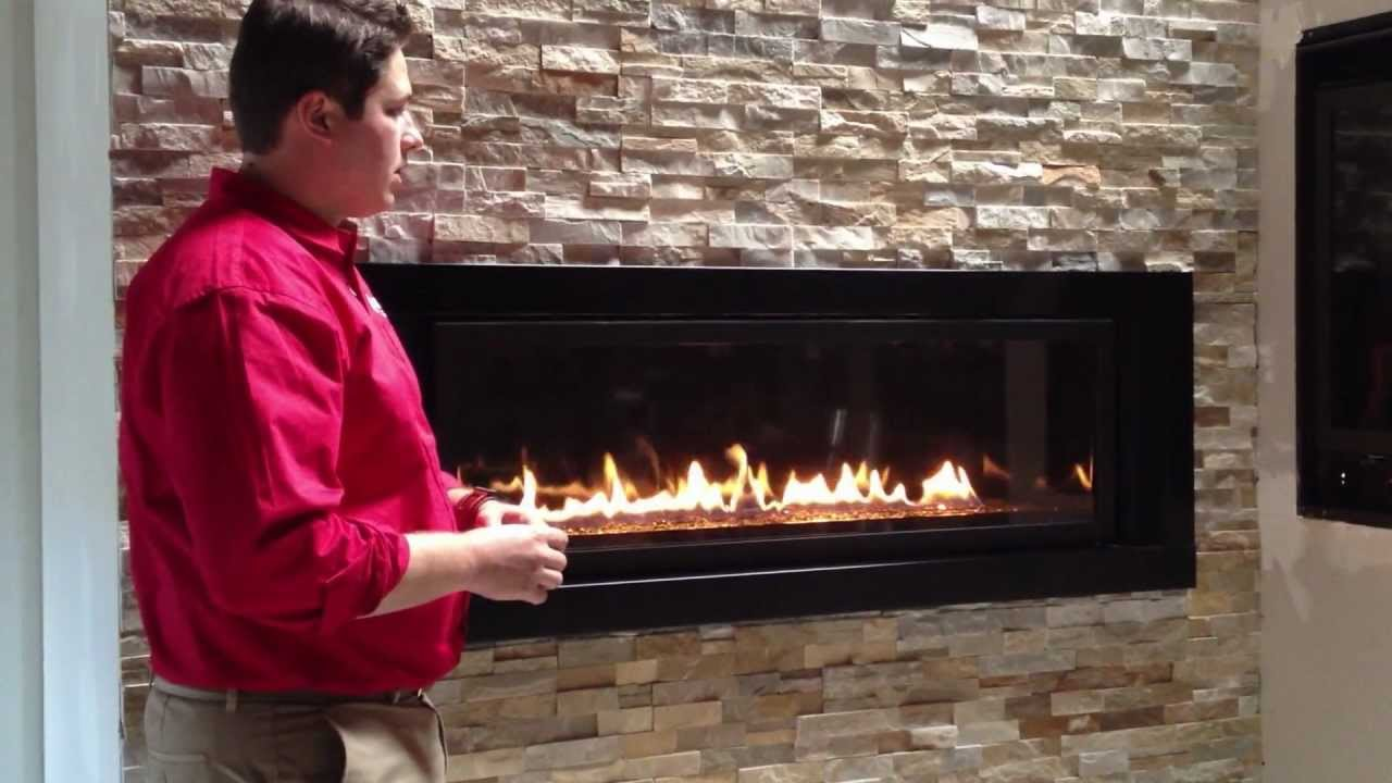 Napoleon Linear Gas Fireplace LV50 Propane Natural Gas Product Review LV502  YouTube