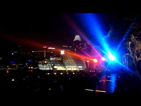 The sand water laser performances in Singapore