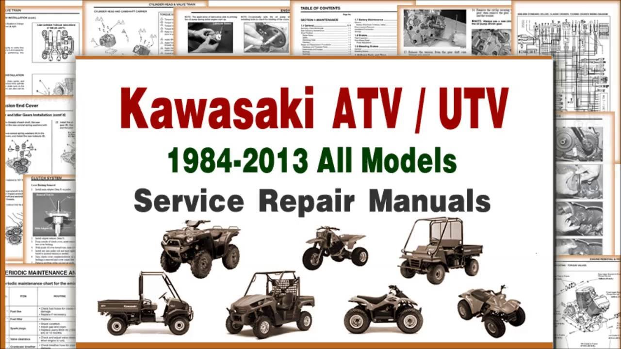 kawasaki atv repair and maintenance manuals service infomation rh youtube com kawasaki 300 atv service manual kawasaki atv repair manual download