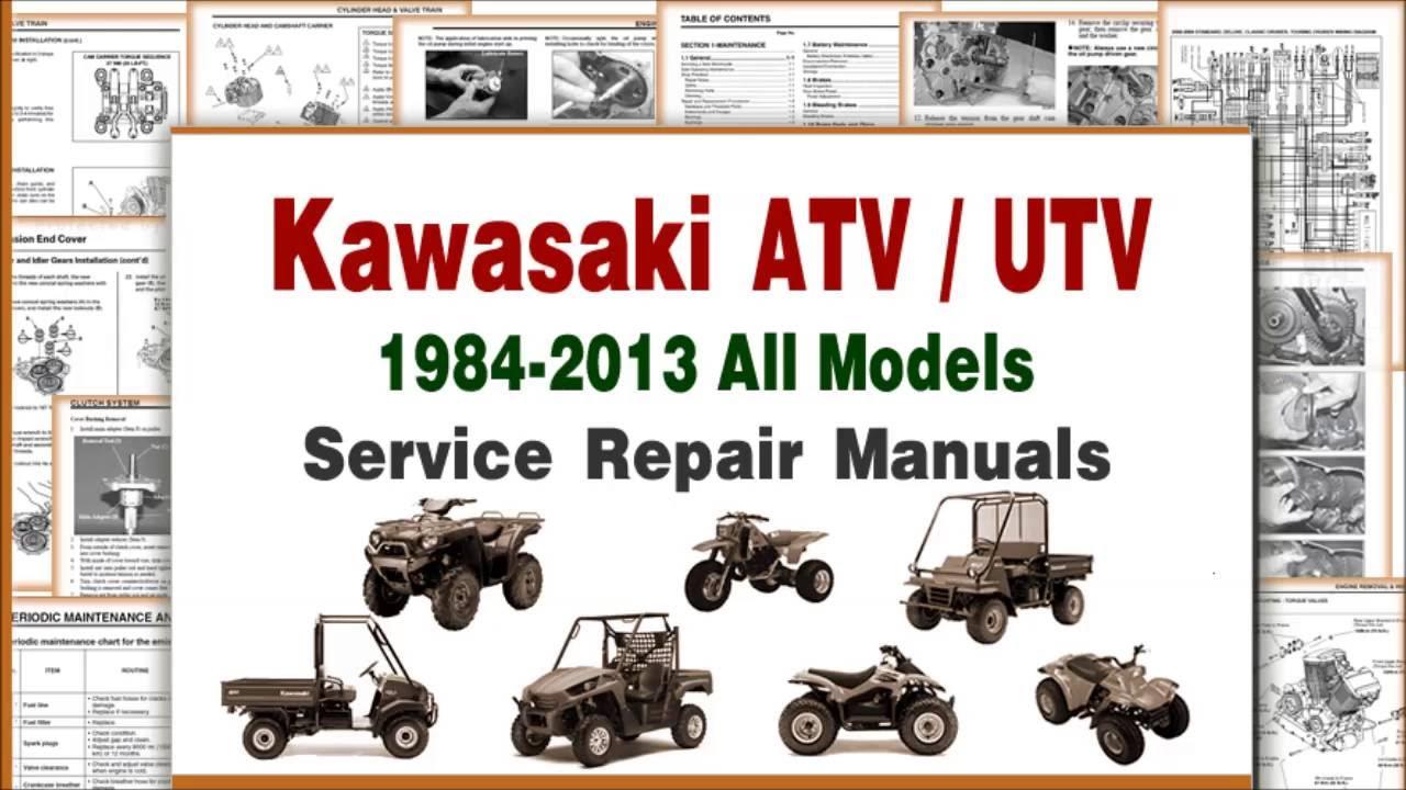 hight resolution of kawasaki atv repair and maintenance manuals service infomation