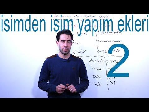 Isimden Isim Yapım Ekleri 2 تعلم اللغة التركية أونلاين || الدرس الرابع من المستوى الثاني