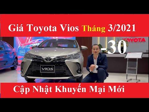 ✅Bảng Giá Xe Toyota VIOS 2021 Tháng 3/2021 Cập Nhật Khuyến Mại Mới Nhất Trả Góp 150 Tr