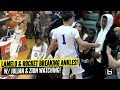 ZION Watches LaMelo Ball Try To Dunk Like ZION!!! Rocket Watts CHECKING ANKLES!!