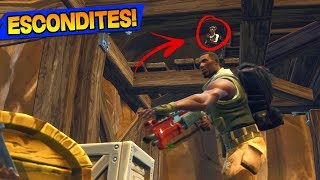 3 'SECRET ESCONDITES' à FORTNITE BATTLE ROYALE!! TOP ENDROITS CACHÉS DANS FORNITE