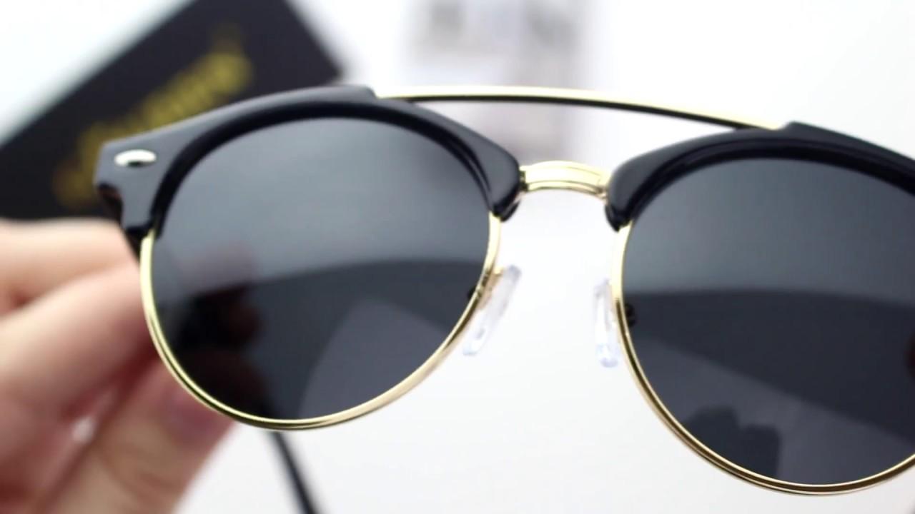 GQUEEN Dapper Mode Braue Kreuzschiene Polarisierte Sonnenbrille Markendesigner GQ52 uC3Jk