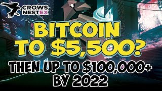 Bitcoin to $5,500 then up to $100,000 Post Halving by 2022