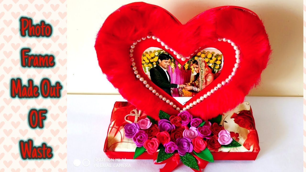 How To Make Heart Shaped Photo Frame From Waste Leftovers