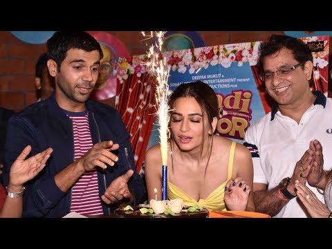 Kriti Kharbanda Celebrates Her Birthday With 'Shaadi Mein Zaroor Aana' Cast & Crew | Rajkummar Rao