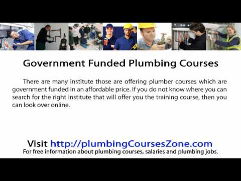 government-funded-plumbing-courses
