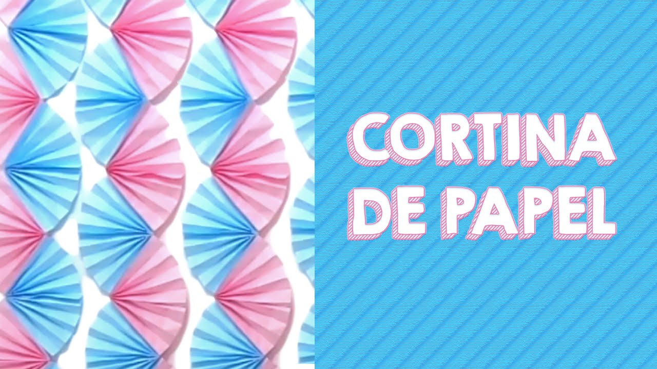 Painel Cortina De Leques De Papel Diy Youtube
