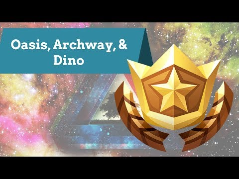 Fortnite | Search Between Oasis, Archway, & Dino Location | Season 5 Challenge