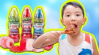 Anh Em Siêu Quậy ❤️ Giấu Anh Trai Ăn Kho Báu Kẹo Bình Sữa VS Kẹo Hubba Bubba