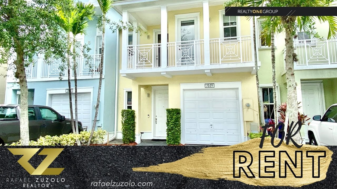 TownHouse For Rent in Doral FL 3 Bedrooms 2.5 Bathrooms at ...
