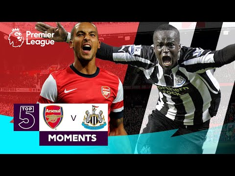 Arsenal vs Newcastle United | Top 5 Premier League Moments | Walcott, Tiote, Van Persie