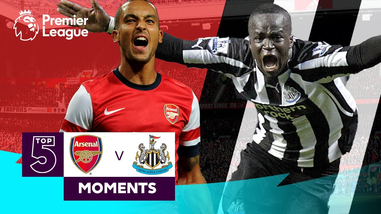 Arsenal Vs Newcastle United Top 5 Premier League Moments Walcott Tiote Van Persie Youtube