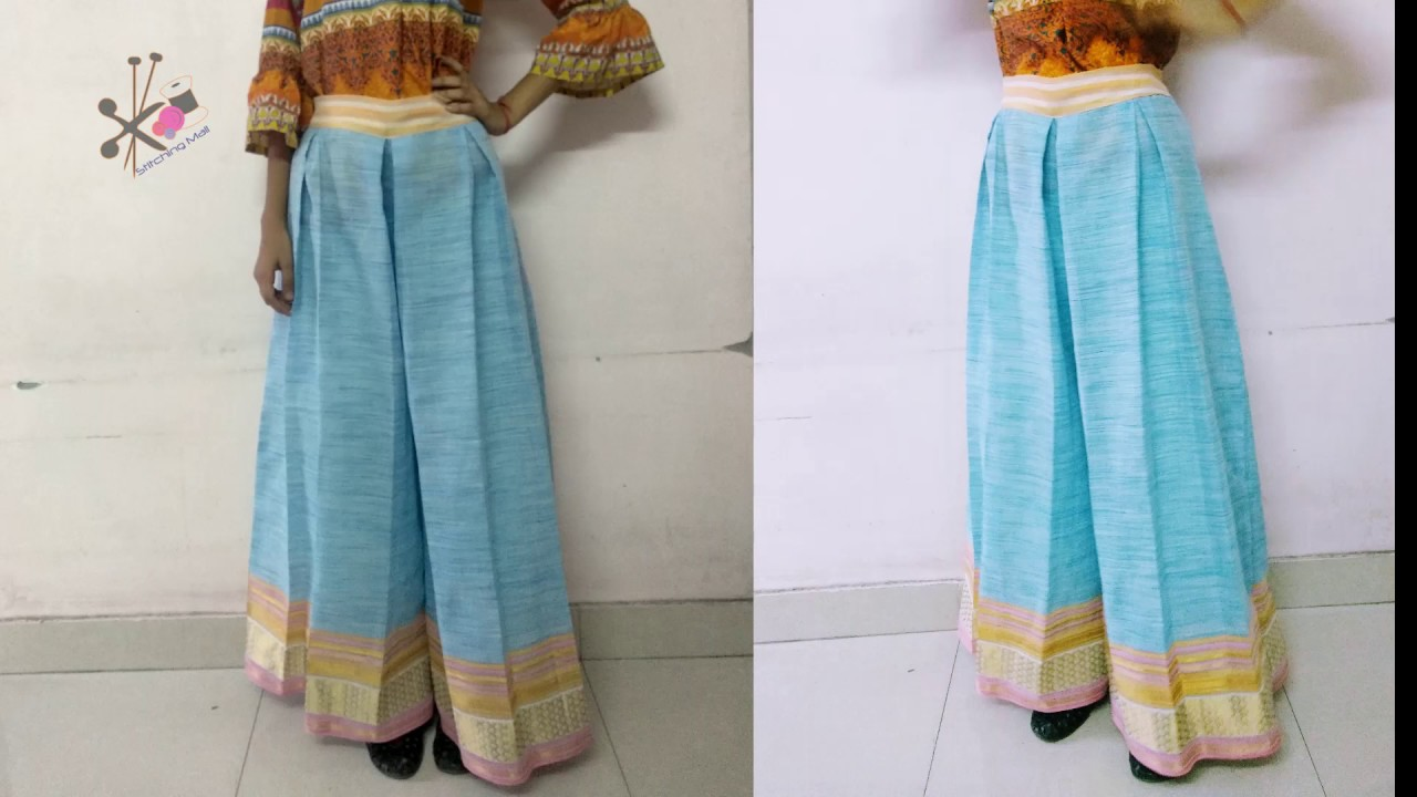 Make Inverted Pleat Palazzo Cutting Sewing Diy Skirt Shorts