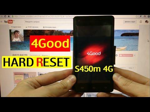 Сброс графического ключа 4Good S450m 4G Factory Hard reset