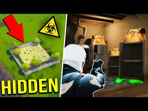 *NEW* Secret Hidden NUCLEAR LOOT BUNKER! (Fortnite Battle Royale!)