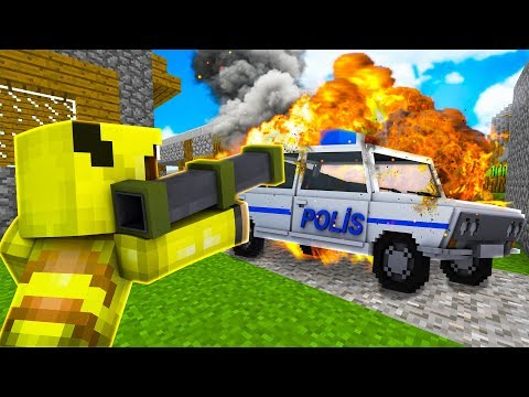 ISMETRG POLİS ARABASINI PATLATTI! 😱 - Minecraft thumbnail