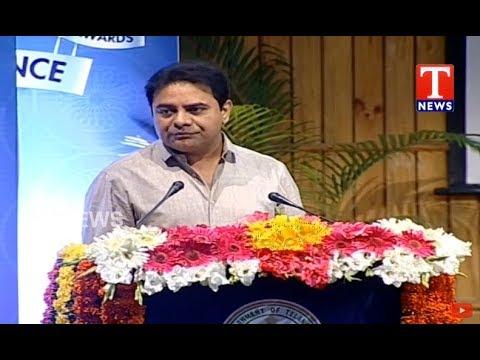 Minister KTR Speech At Telangana Excellence Awards 2018 Event   Hyderabad   TNews live Telugu