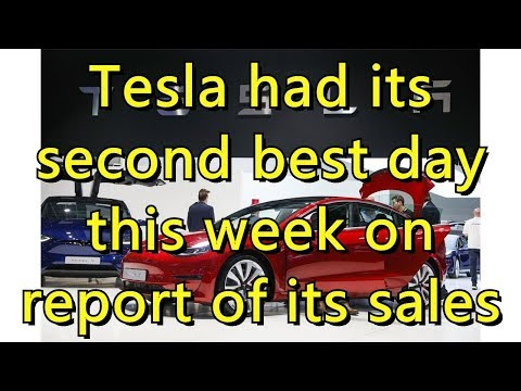 Tesla had its second best day this week on report of its sales push
