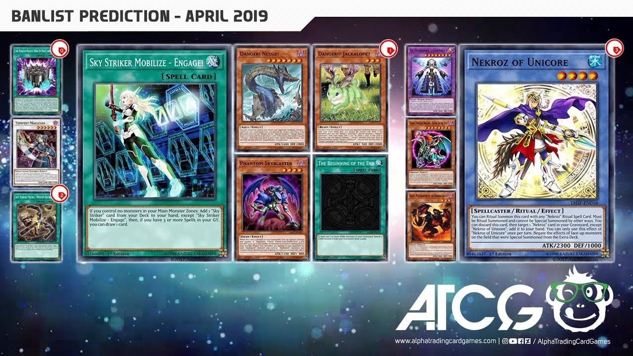 Yu-Gi-Oh! TCG April 2019 Banlist Prediction & Discussion