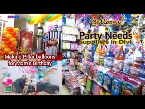Party Needs Suppliers in Divisoria + How to make Garland Balloons Arts and Crafts soon
