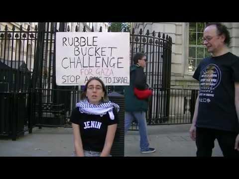 Rubble Bucket Challenge Downing St London (1) by Caroline Twin-Jenin