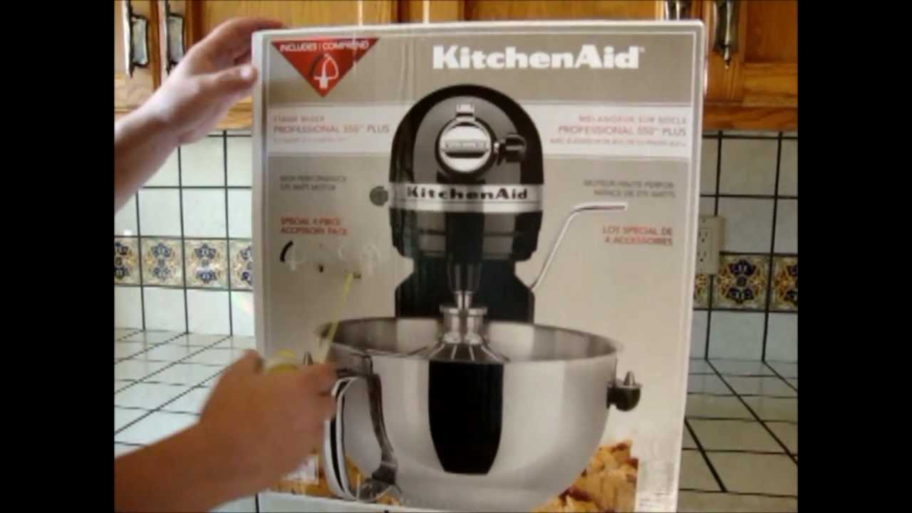 costco kitchen aid rustic tables box opening of the kitchenaid professional 550 plus from
