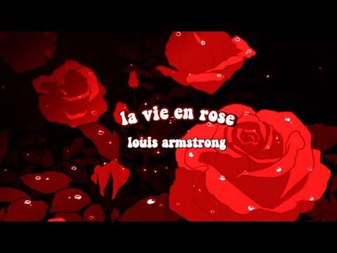 la vie en rose by louis armstrong but it's raining