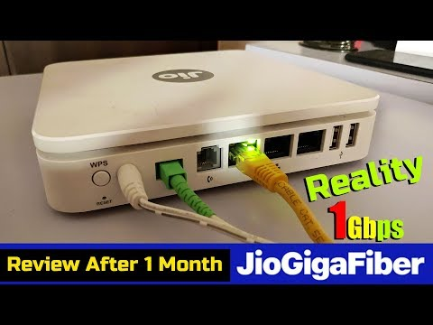 Jio Gigafiber Broadband Speed Test After 1 Month of Use PART - 1