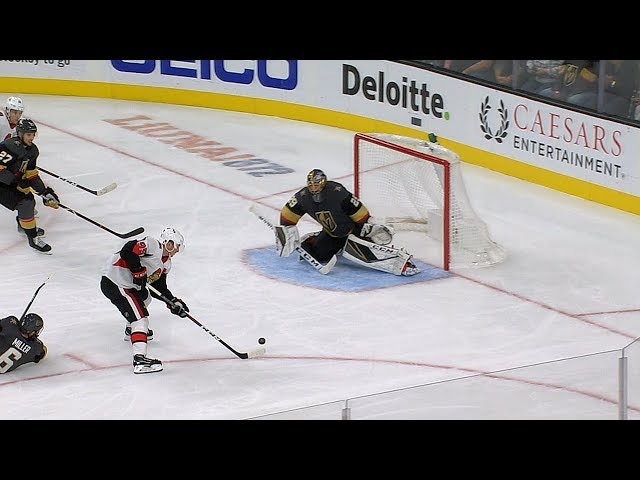 Marc-Andre Fleury slides across for clutch save to preserve tie