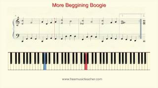 "How To Play Piano: ""More Beggining Boogie"" Piano Tutorial by Ramin Yousefi"
