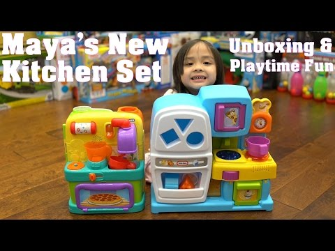 Little Girl's Toys: Cooking and Kitchen Playsets Unboxing. Little Tikes and Bright Starts Toys